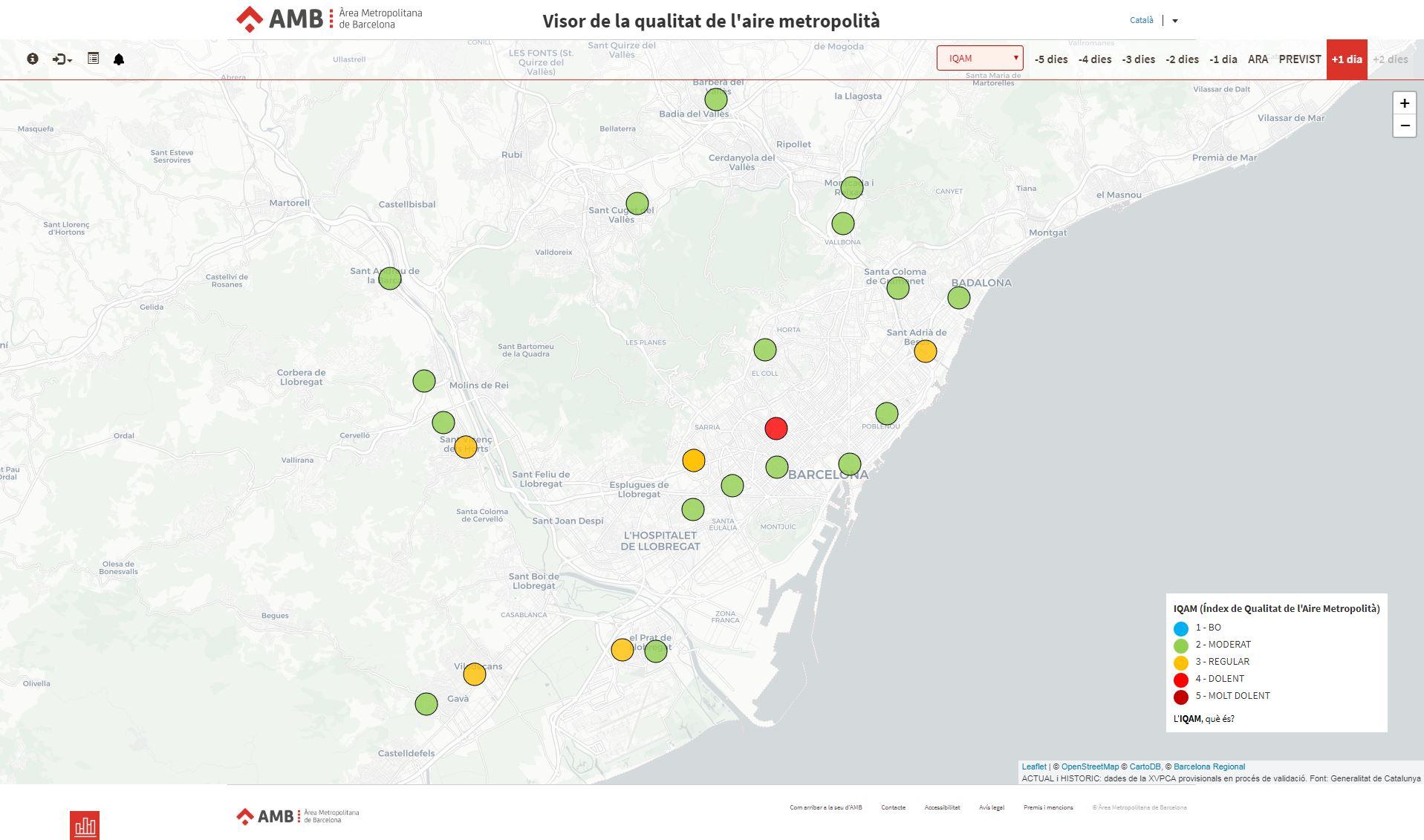 Barcelona Regional - Model de previsió de la qualitat de l'aire a l'Àrea Metropolitana de Barcelona